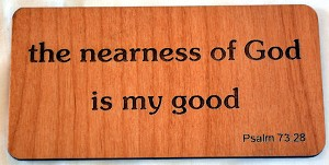 Nearness of God, Wooden Magnet
