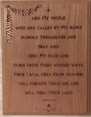 Chronicles 7:14 Wooden Plaque