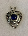 Heart with Star of David, Blue Stone
