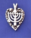 Heart with Menorah