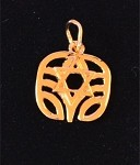 Tree of Life with Magen David, Gold Plated, Pendant