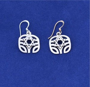 Tree of Life with Magen David, Earrings