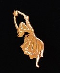Dancer Lapel Pin, GP