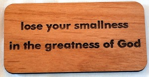 Greatness of God, Wooden Magnet, small