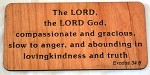 The LORD God, Wooden Magnet