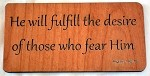 He Will Fulfill, Wooden Magnet