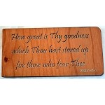 Great is Thy Goodness, Wooden Magnet
