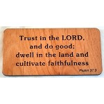 Cultivate Faithfulness, Wooden Magnet