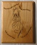 Dancer, Wooden Plaque