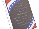 Chronicles 7:14, Patriotic Plaque, Horizontal