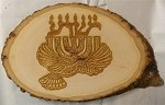 Yeshua,Menorah,Dove, Basswood