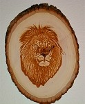 Lion Basswood Plaque