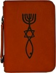 Leatherette Bible Cover with zipper - Small