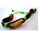 Leather Coconut Bracelet
