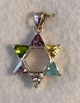 Star of David with Stones, MultiColored