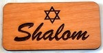 Shalom, Wooden Magnet small